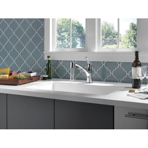 Chrome Single Handle Pull-Out Kitchen Faucet