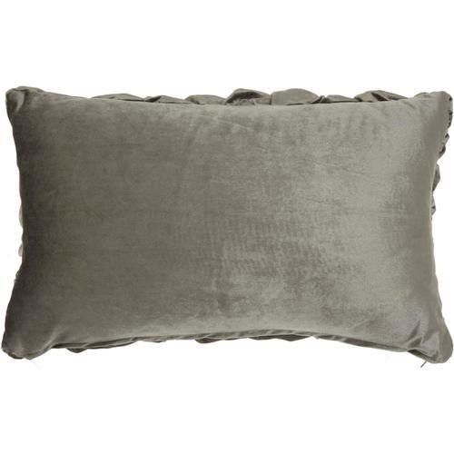 "Life Styles L0064 Dark Grey 14"" X 24"" Throw Pillow"