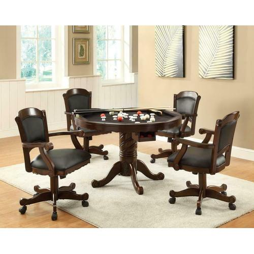 Coaster - Turk Casual Game Table and Arm Chair Set