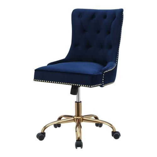 Coaster - Modern Blue Velvet Office Chair