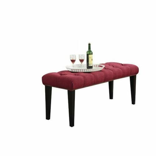 ACME Faye Bench - 20893 - Red Linen & Espresso