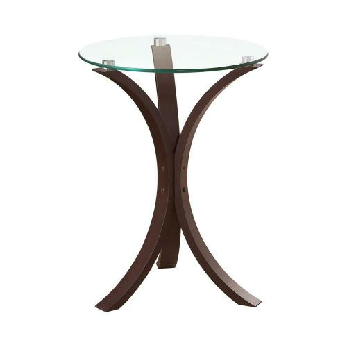 Product Image - Transitional Cappuccino Accent Table