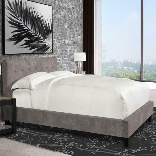 Parker House - JODY - CORNFLOWER Queen Bed 5/0 (Grey)