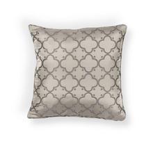 """L250 Taupe Filigree Pillow 18"""" X 18"""""""