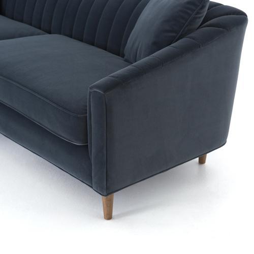 """Modern Velvet Shadow Cover Eve 96"""" Sofa"""