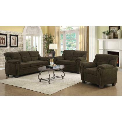 See Details - Clemintine Brown Three-piece Living Room Set