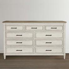See Details - Bella 9 Drawer Wood Top Dresser