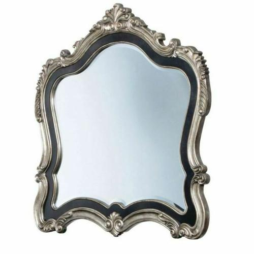 ACME Chantelle Mirror - 20544 - Antique Platinum