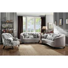 ACME Saira Sofa w/5 Pillows - 52060 - Light Gray Fabric