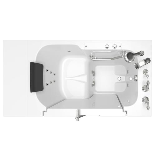 Gelcoat Premium Series 32x52 Whirlpool Walk-in Tub with Outward Opening Door, Right Drain  American Standard - White
