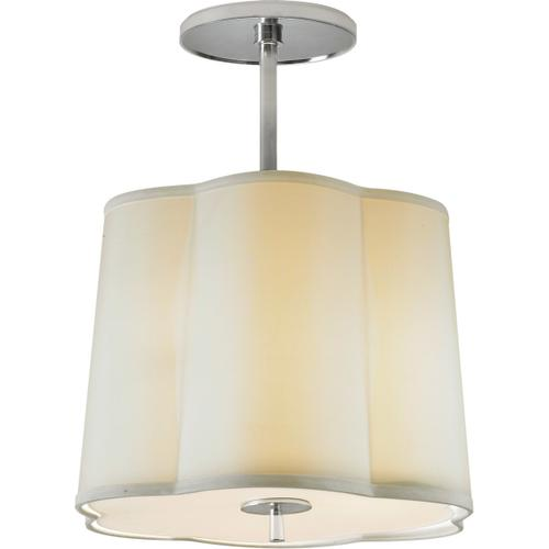Visual Comfort - Barbara Barry Simple 3 Light 16 inch Soft Silver Hanging Shade Ceiling Light