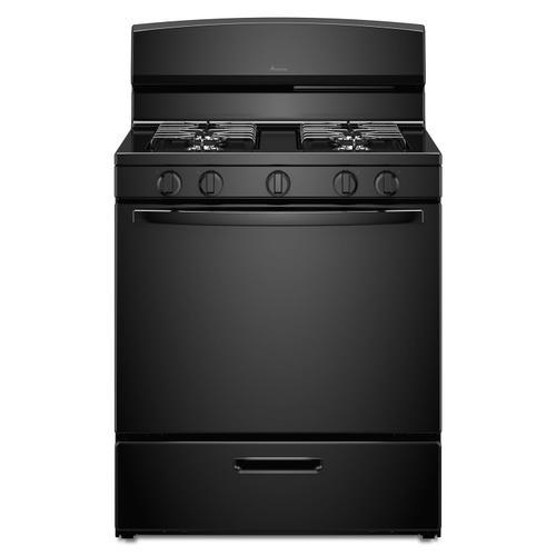 30-inch Gas Range with EasyAccess Broiler Door Black