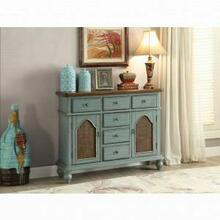 ACME Telissa Console Table - 90290 - Antique Blue & Oak