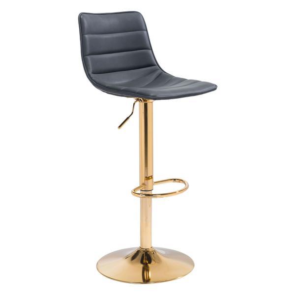 See Details - Prima Bar Chair Black & Gold