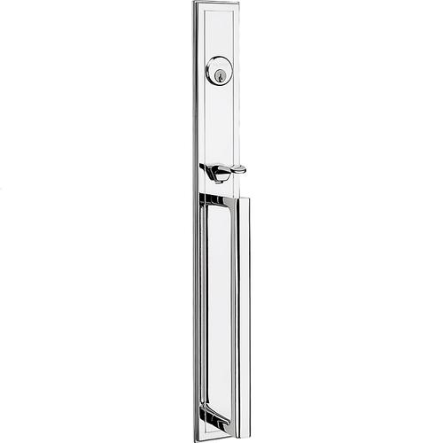 Polished Chrome Hollywood Hills Mortise Handleset Trim