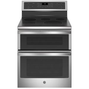 "GE Profile™ 30"" Free-Standing Electric Double Oven Convection Range Product Image"