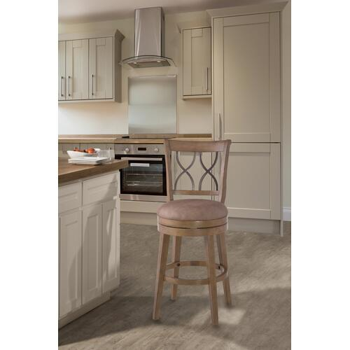 Reydon Swivel Counter Stool - Light Weathered Taupe Wash