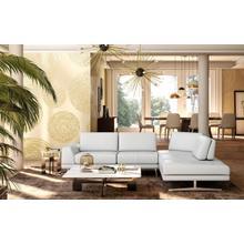 View Product - Accenti Italia Bellagio - Italian Modern White Leather Right Facing Sectional Sofa