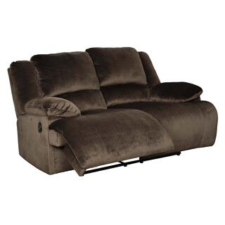 Clonmel  - Chocolate Reclining Loveseat