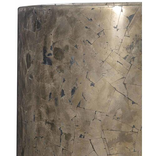 Pyrite Drum Table