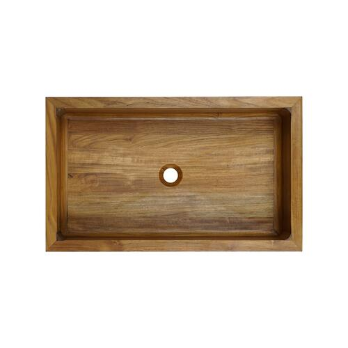 Luana Arched Front Single Bowl Teak Farmer Sink - 33""