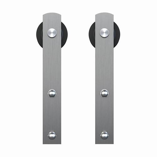 "Schlage - Sliding Barn Door Hardware - 6'6"" I Strap - Satin Stainless Steel"