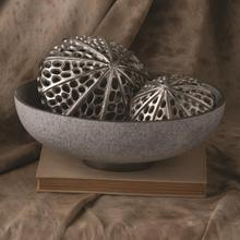 See Details - Silver Banded Bowl-Grey