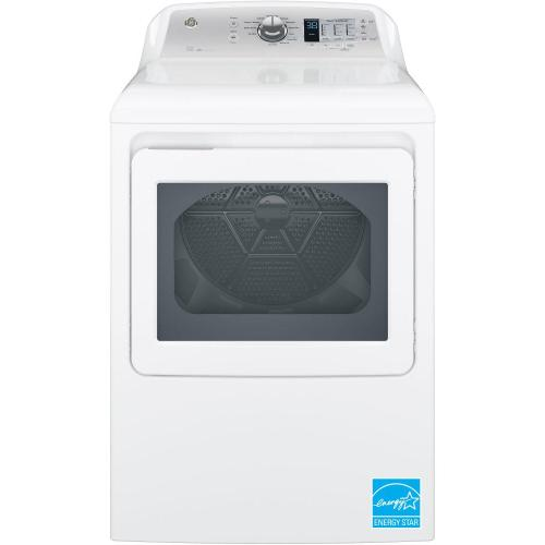 GE® 7.4 cu. ft. Capacity aluminized alloy drum Electric Dryer with Sensor Dry