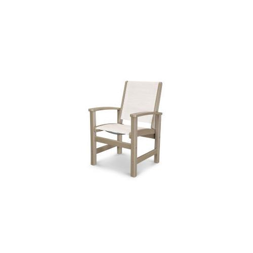 Coastal Dining Chair in Vintage Sahara / Parchment Sling