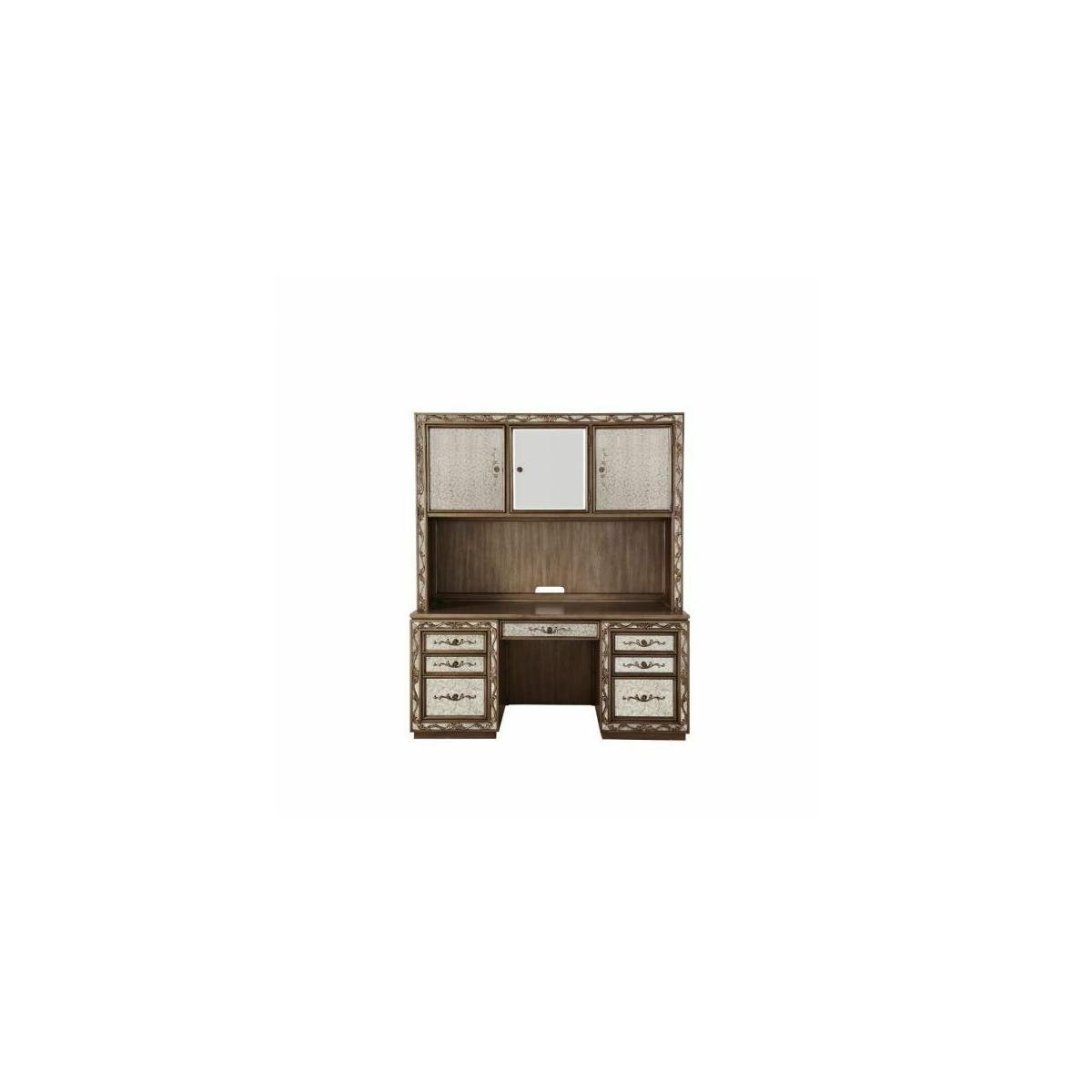 ACME Orianne Computer Desk & Hutch - 93790 - Antique Gold