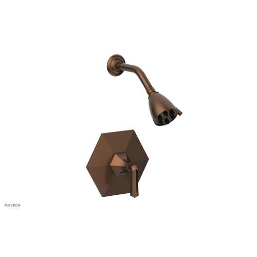 Phylrich - LE VERRE & LA CROSSE Pressure Balance Shower Set - Lever Handle PB3170 - Antique Copper
