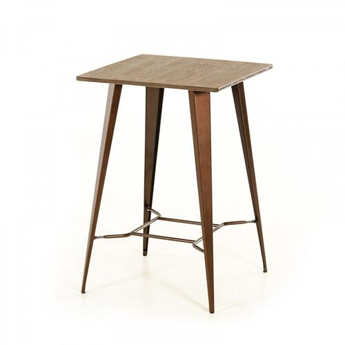 Product Image - Modrest Benz Modern Copper & Wood Bar Table