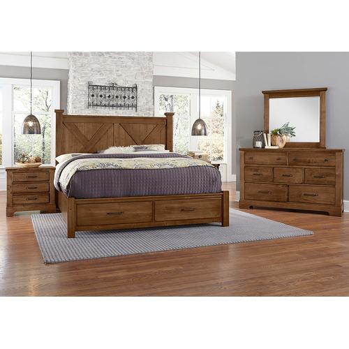 King X Bed with Footboard Storage