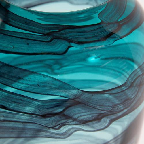 Howard Elliott - Cyclone Swirled Glass Vase