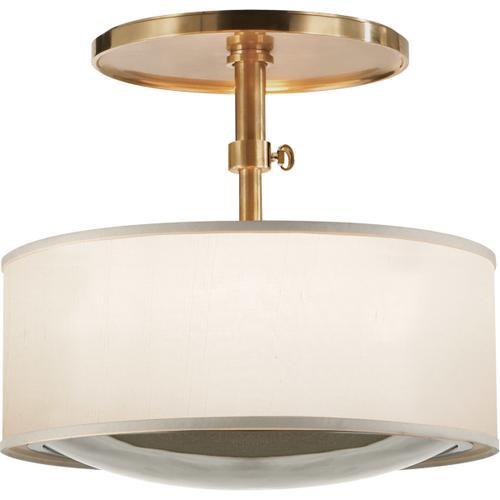 Visual Comfort - Barbara Barry Reflection 2 Light 15 inch Soft Brass Hanging Shade Ceiling Light