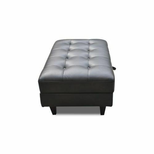 ACME Nate Ottoman w/Storage - 50263 - Espresso Leather-Gel