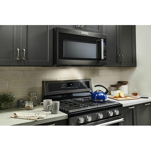 "KitchenAid - 30"" 1000-Watt Microwave Hood Combination - Black Stainless Steel with PrintShield™ Finish"