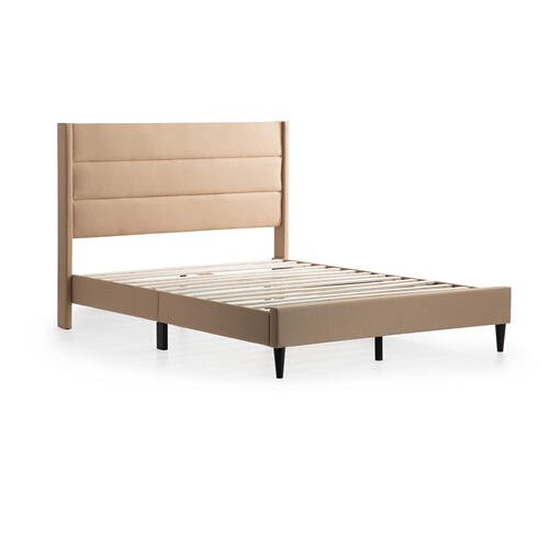 Malouf - Beck Upholstered Bed - Twin White Gray
