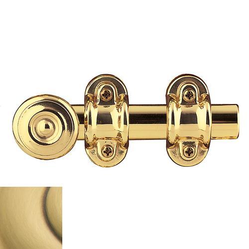 Baldwin - Satin Brass and Brown Ornamental Heavy Duty Surface Bolt