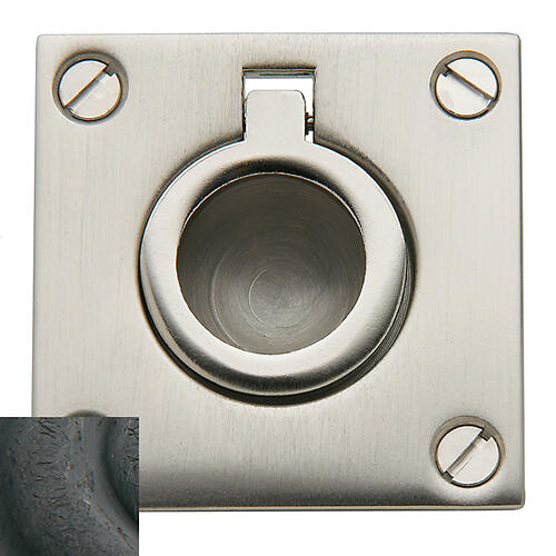 Baldwin - Distressed Oil-Rubbed Bronze Flush Ring Pull