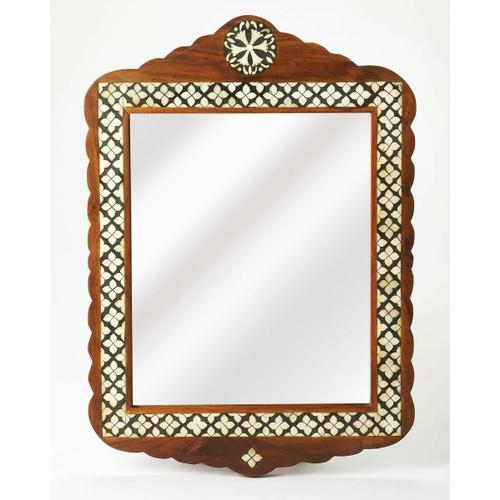 Butler Specialty Company - This arched top wall mirror is an extraordinary feat of craftsmanship. Its wondrous Moroccan quatrefoil design is painstakingly created inlaying bone ™ within a merranti wood frame ™ one individual piece at a time. Its hand rubbed finish will elegantly blend with virtually any style while imparting a touch of bohemian chic in any space.