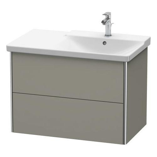 Duravit - Vanity Unit Wall-mounted, Stone Gray Satin Matte (lacquer)