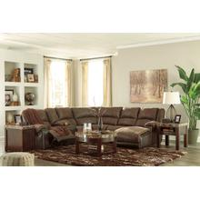 Nantahala Coffee 6 Piece Reclining Sectional
