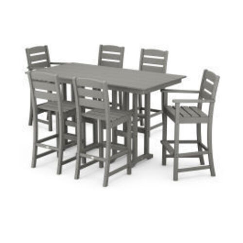 Polywood Furnishings - Lakeside 7-Piece Bar Set in Slate Grey