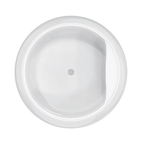 "Yarborough 61"" Round Acrylic Tub with Integral Drain and Overflow - Brushed Nickel Drain and Overflow"