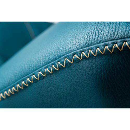 VIG Furniture - Nova Domus Andrea - Modern Blue Leather Right Facing Sectional Sofa