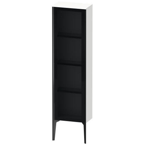 Product Image - Semi-tall Cabinet With Mirror Door Floorstanding, White Matte