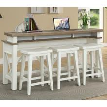See Details - AMERICANA MODERN - COTTON Everywhere Console with 3 Stools