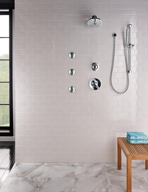 Chrome HydraChoice ® Body Spray - H 2 Okinetic ® Invigorating Spray Head Product Image