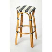 Evoking images of sidewalk tables in the Cote d'Azur, barstools like this will give your kitchen or patio the casual sophistication of a Mediterranean coastal bistro. Expertly crafted from thick bent rattan for superb durability, it features weather resis